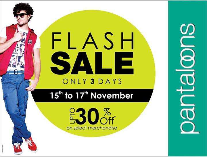 Pantaloons Flash Sale Upto 30 Off From 15 To 17 November 2013 Deals Sales Offers