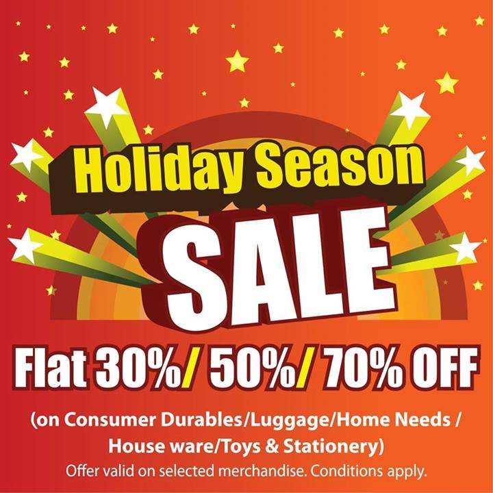 Holiday Season Sale, Sale on Consumer Durables, Sale on Luggage, Sale