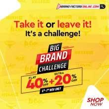 Brand Factory Big Brand Challenge  6th - 7th November 2019