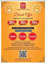 Miniso Diwali Offer  1st - 31st October 2019