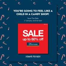 Upto 60% off Sale at Westside on 1st January 2018  9.am onwards.
