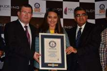 Dr. Zbigniew Inglot, Chairman of the Board of Directors, INGLOT, Actress Sonakshi Sinha and Mr. Tushar Ved, president of Major Brands India Pvt. Ltd